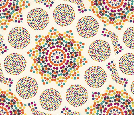 mosaic_round_pattern fabric by lfntextiles on Spoonflower - custom fabric