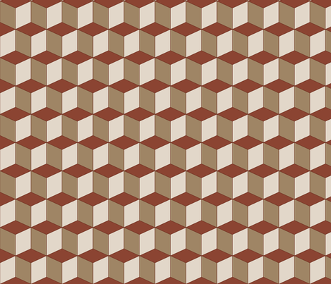 Colorful Tessellated Squares - Brown fabric by zephyrus_books on Spoonflower - custom fabric
