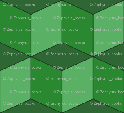 Colorful Tessellated Squares - Green