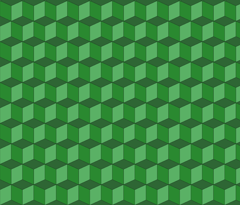 Colorful Tessellated Squares - Green fabric by zephyrus_books on Spoonflower - custom fabric