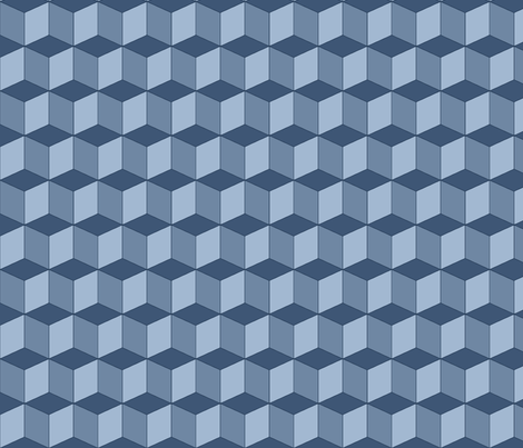 Colorful Tessellated Squares - Blue