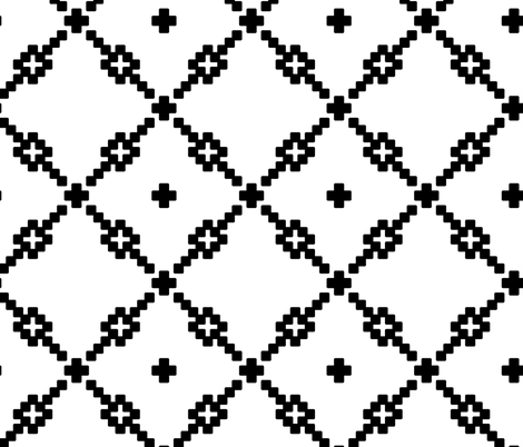 White Checker Pattern fabric by pond_ripple on Spoonflower - custom fabric