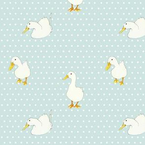 Ducks on White Dots