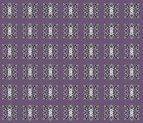 Plum Pixelated Square © Gingezel™ 2012 fabric by gingezel on Spoonflower - custom fabric