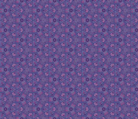 Owl Eyes Cheater Quilt in Plum © Gingezel™ 2012 fabric by gingezel on Spoonflower - custom fabric