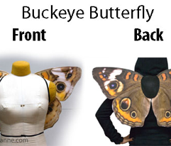 Buckeye Butterfly Costume Wings