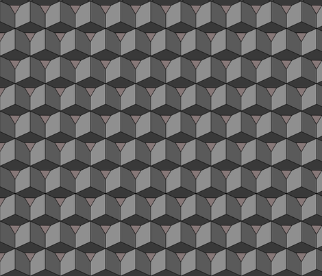 Colorful Tessellated Squares - Grey Gray