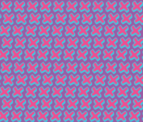 pink crosses fabric by jenr8 on Spoonflower - custom fabric