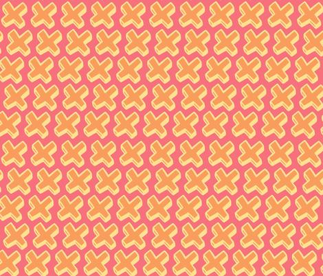 peach cross fabric by jenr8 on Spoonflower - custom fabric