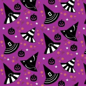 Pumpkin Patch Hats - purple