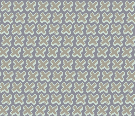 neutral crosses fabric by jenr8 on Spoonflower - custom fabric