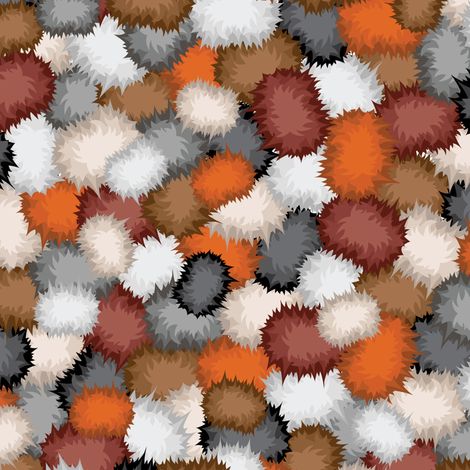 The Trouble with Fuzzballs fabric by robyriker on Spoonflower - custom fabric