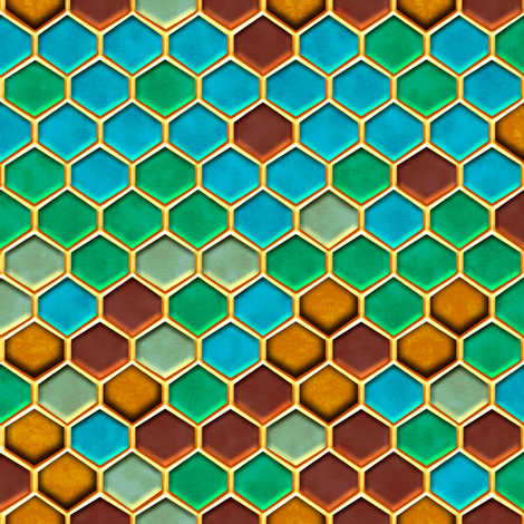 Honeycomb Candy fabric by jadegordon on Spoonflower - custom fabric