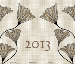2013 Neutral Linen Calendar