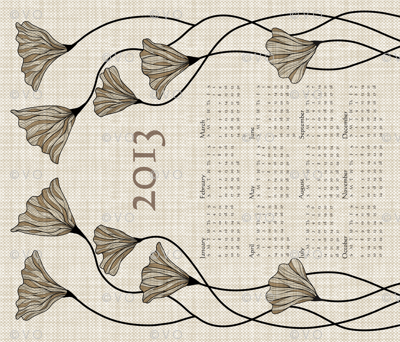 2013 Neutral Linen Calendar