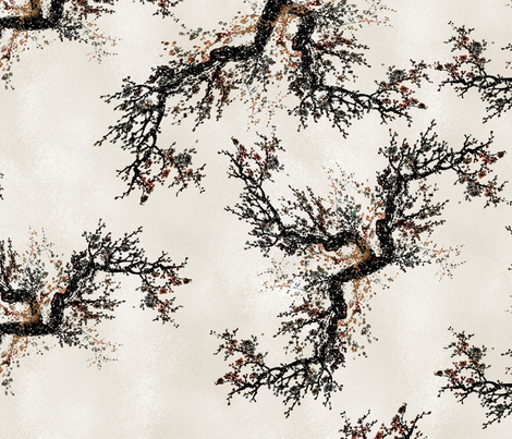Autumn Japanese Blossom fabric by ruthkatherine on Spoonflower - custom fabric