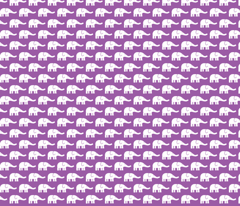 SMALL Elephants in violet fabric by katharinahirsch on Spoonflower - custom fabric