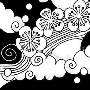 japanese_clouds_and_blossom-Black
