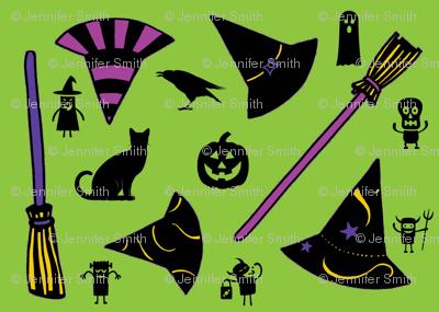 Halloween - green