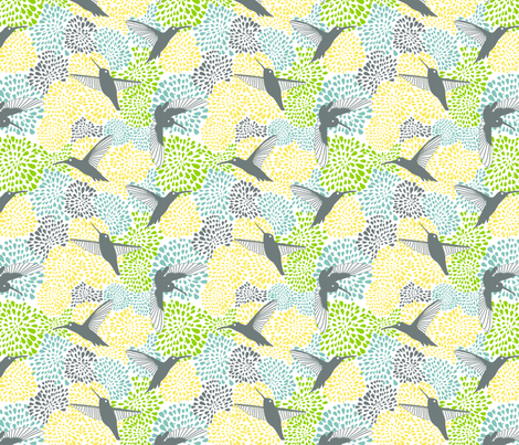 Colibrí fabric by valmo on Spoonflower - custom fabric