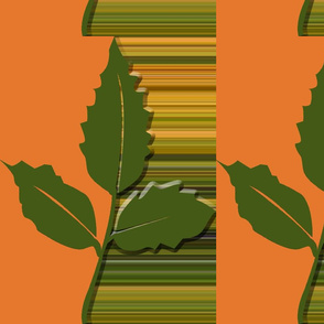 Autumn Leaf Orange with Horizontal Stripe