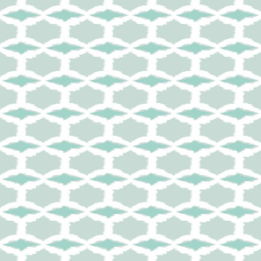 Spring Diamonds-white/seafoam-ch