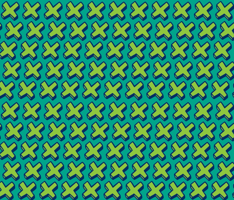 green crosses fabric by jenr8 on Spoonflower - custom fabric