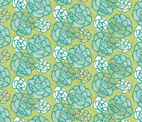 nouveau_col_floral fabric by kezia on Spoonflower - custom fabric