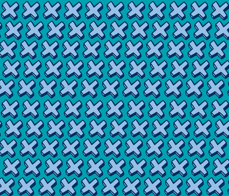 blue crosses fabric by jenr8 on Spoonflower - custom fabric