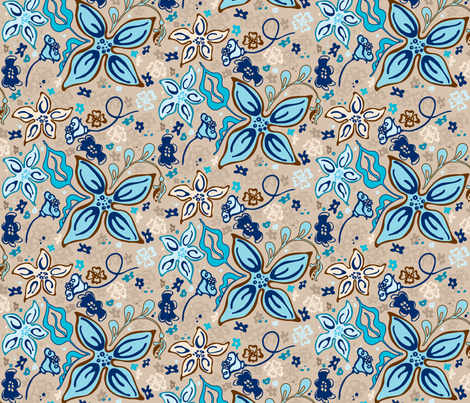 Fling Flowers fabric by kari_d on Spoonflower - custom fabric