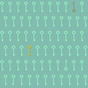 keys - aqua