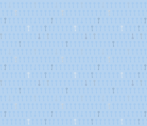keys_blue fabric by glimmericks on Spoonflower - custom fabric