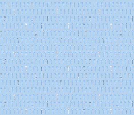 keys_blue fabric by glimmericks on Spoonflower - custom fabric