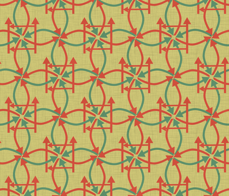 Retro memories - linen fabric by catru on Spoonflower - custom fabric