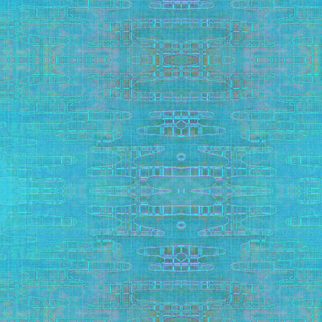 Reflecting Pools - Iridescent Mediterranean blues/greens/lavender fabric by materialsgirl on Spoonflower - custom fabric