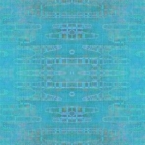 Reflecting Pools - Iridescent Mediterranean blues/greens/lavender