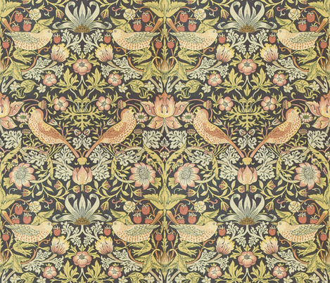 William Morris ~ Strawberry Thief fabric by peacoquettedesigns on Spoonflower - custom fabric