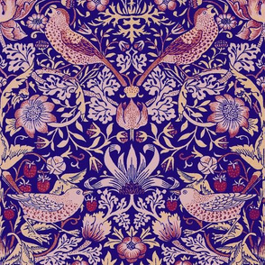 William Morris ~ Strawberry Thief ~ Violet