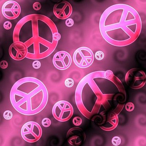 Pink and Black Peace Signs