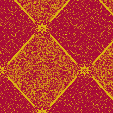 Circus Wagon Xmas: Harlequin Star fabric by tallulahdahling on Spoonflower - custom fabric
