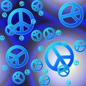 Blue Peace Signs