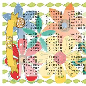 2013 Calendar Inspired Tea Towel