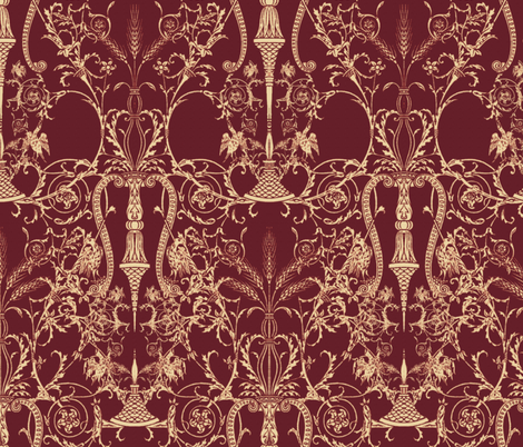 Lady Mary's Bedroom fabric by peacoquettedesigns on Spoonflower - custom fabric