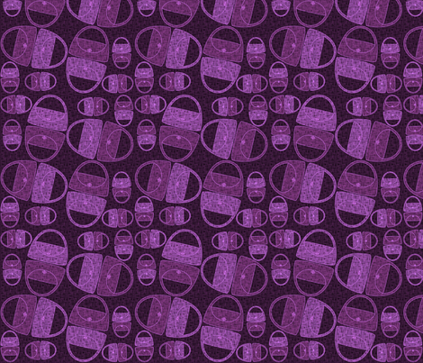 Pretty Purple Purses fabric by glimmericks on Spoonflower - custom fabric