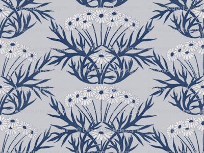 Art Nouveau Daisies ~ Blue