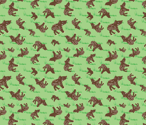 Tapir_Swatch fabric by dianakreider on Spoonflower - custom fabric