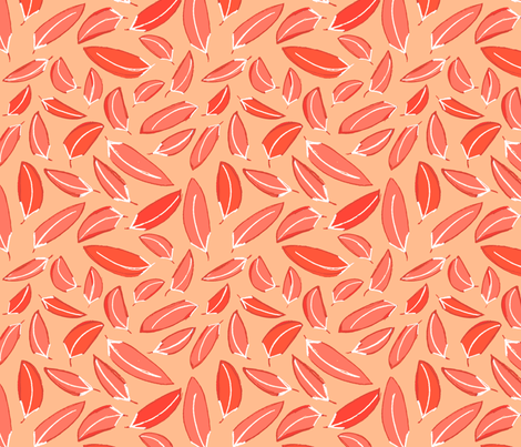Wind Blown Leaves in Red fabric by wildnotions on Spoonflower - custom fabric