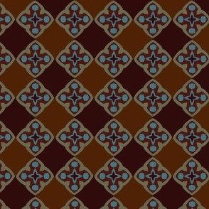 Medieval Check Brown Blue