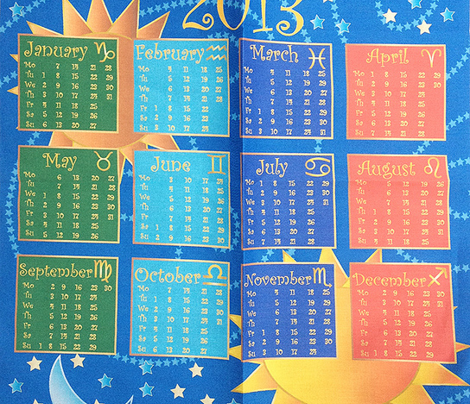 astrological calendar 2014
