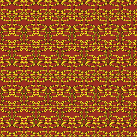 Bitty Spurs - red/gold fabric by ragan on Spoonflower - custom fabric